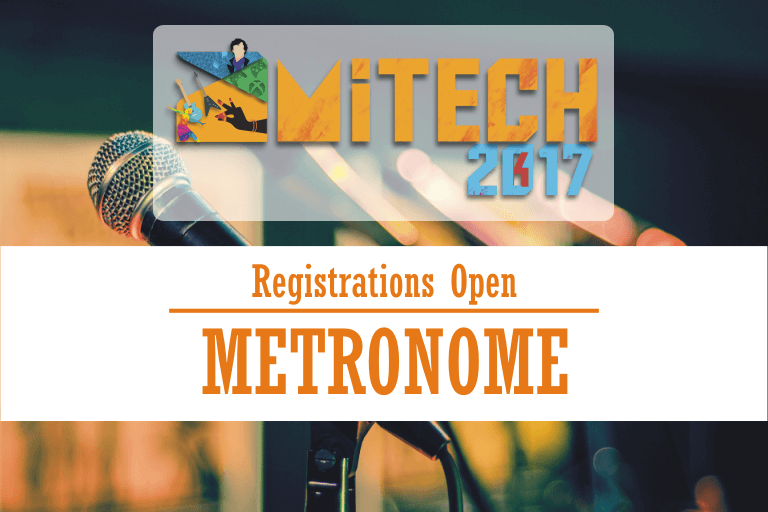 Metronome at AMITECH'17, AMITY University