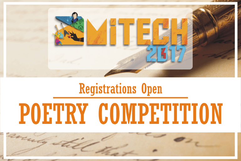 Poetry Competition at AMITECH'17, AMITY University