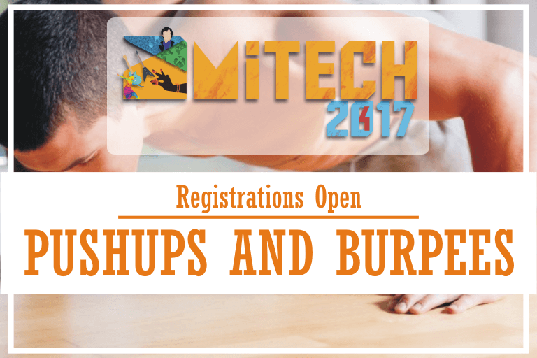 Pushups and Burpees at AMITECH'17, AMITY University